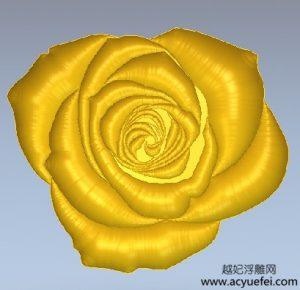 artcam浮雕案例:玫瑰花